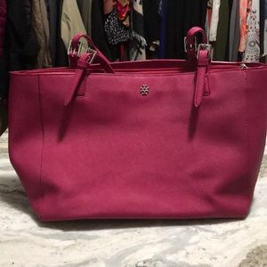 Hot Pink Tory Burch Large Tote
